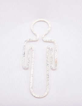 Handmade sterling silver boy's bookmark.
