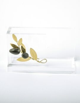 Handmadegift bronze business card case in plexiglass.
