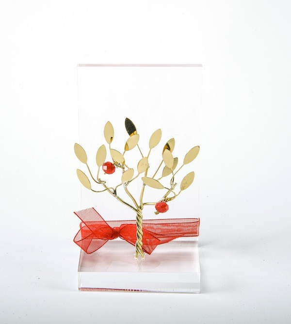 Handmade brass gift business card holder with pomegranate tree in handmade brass gift business card holder with pomegranate tree in plexiglass reheart Gallery