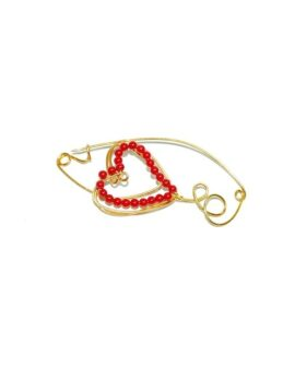Gold plated sterling silver brooch.