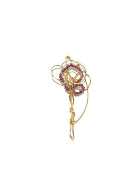 Gold plated sterling silver brooch