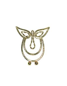 Βookmark owl brass made by hand