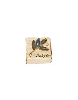 Handmade bronze gift paperweight in wood