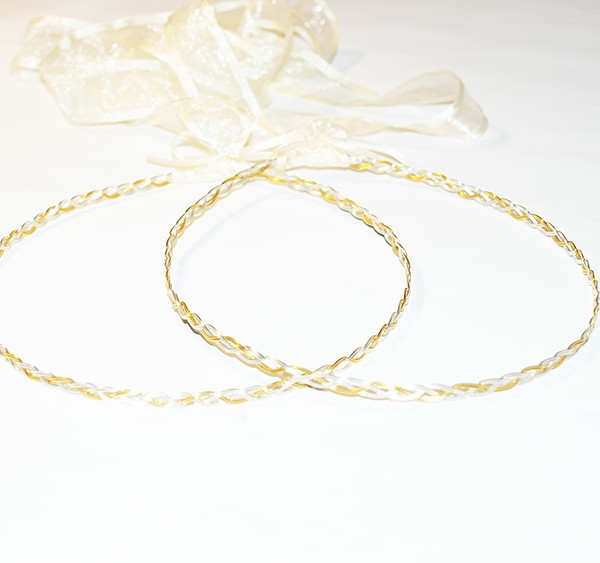 Handmade sterling silver 925 and 18k goldplated orthodox wedding crowns