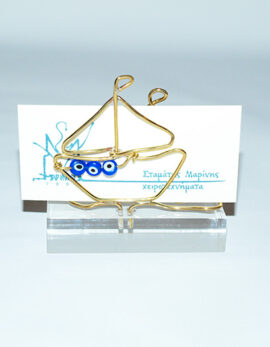 Handmade brass gift business card holder
